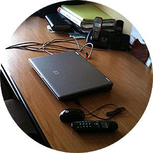 Champs électromagnétiques au bureau